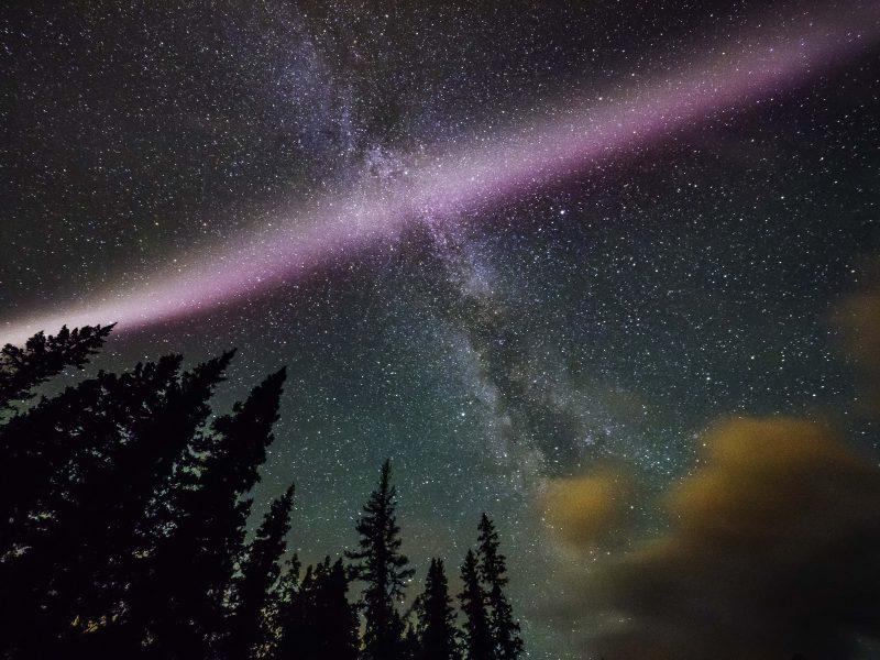 Proton Arc versus Milky Way by Ron Ng