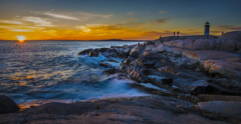 Peggy's Cove Sunset by Victor Kong